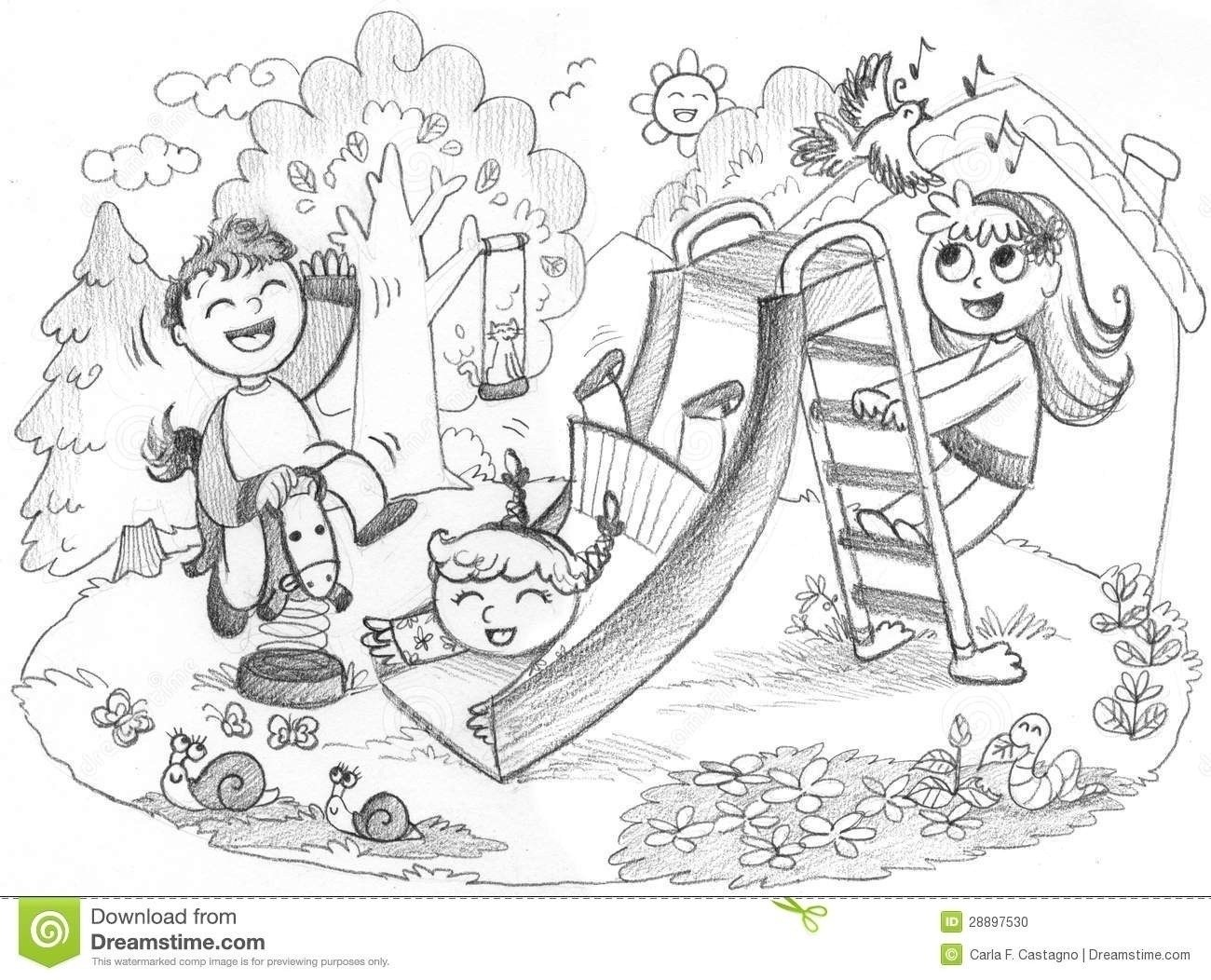 Kids playing clipart black and white banner royalty free stock Kids Playing Outside Clipart Black And White | Furniture ... banner royalty free stock