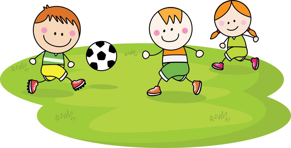 Kids playing football clipart clip art freeuse Child Football Cartoon - Children play 1000*510 transprent Png Free ... clip art freeuse