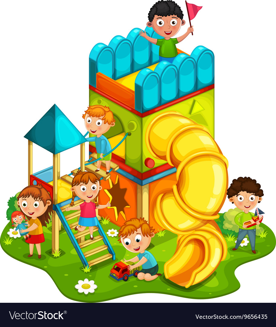 Kids playing in the park clipart graphic free download Kids playing at the park graphic free download