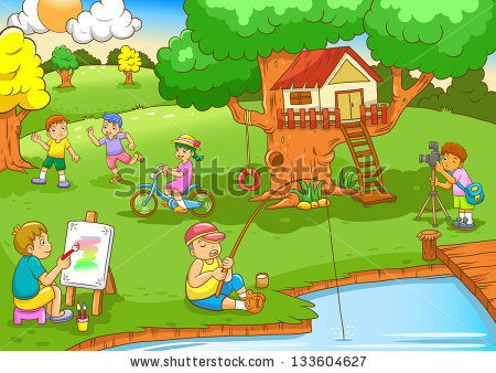 Kids playing in the park clipart image free Children playing in the park clipart 6 » Clipart Station image free