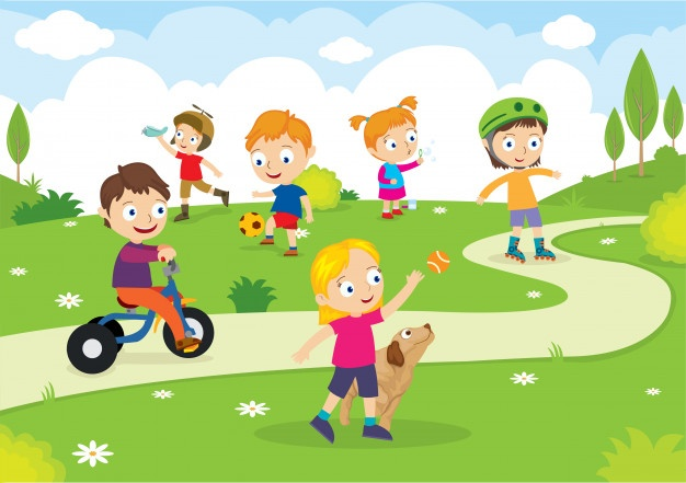 Kids playing in the park clipart banner freeuse library Park Vectors, Photos and PSD files | Free Download banner freeuse library