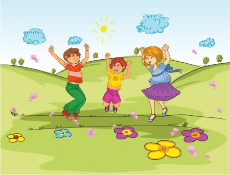 Kids playing in the park clipart png royalty free download Home People Kids Playing In The Park Vector Background ... png royalty free download