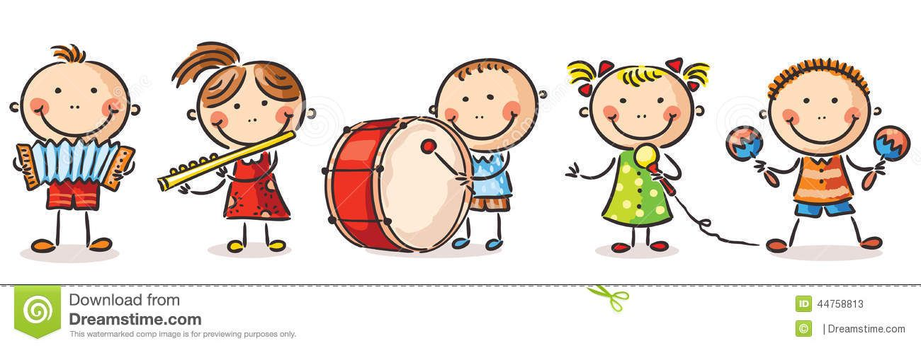 Kids playing music clipart png freeuse stock Pics For > To Play An Instrument Clipart   preschool   Music ... png freeuse stock