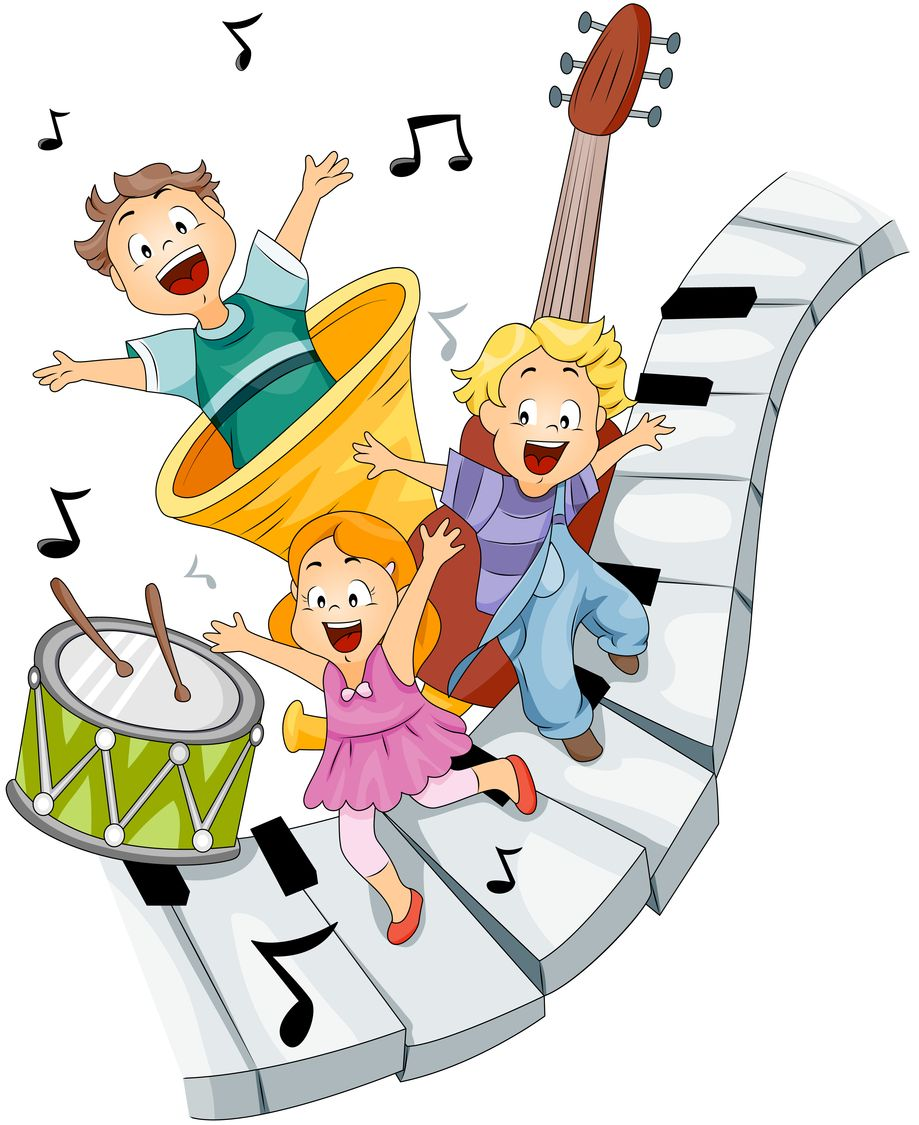 Kids playing music clipart royalty free library Music Game for your Preschooler – Listen to the Instruments ... royalty free library