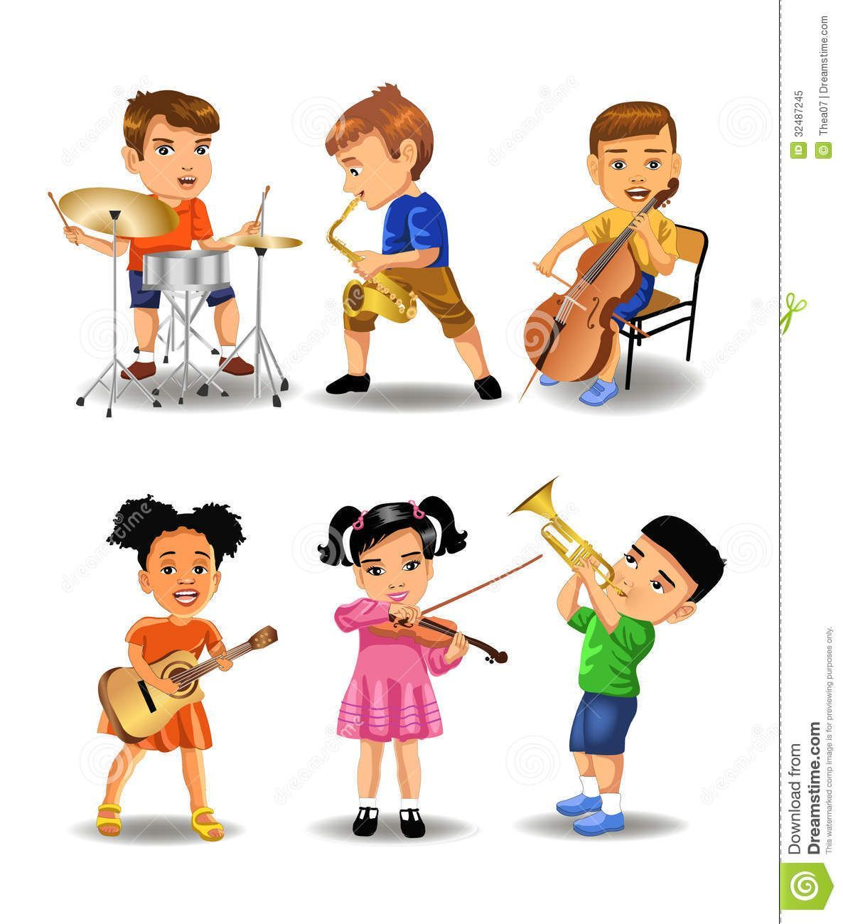 Kids playing music clipart clip free library Kids playing musical instruments clipart 5 » Clipart Portal clip free library