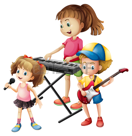 Kids playing music clipart clip transparent download Kids Playing Together Clipart   Free download best Kids ... clip transparent download