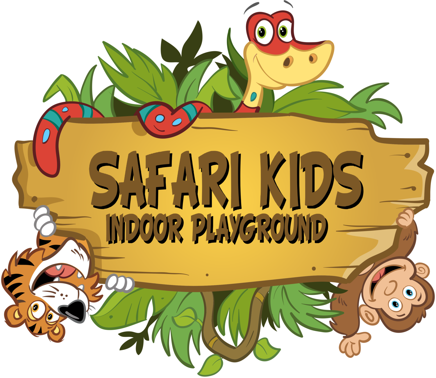 Kids playing on school playground clipart clip royalty free library Safari Kids Indoor Playground clip royalty free library
