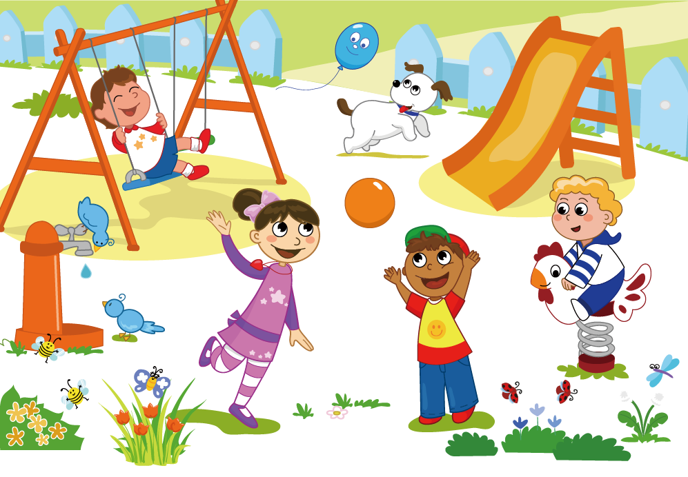 Kids playing on school playground clipart royalty free library Schoolyard Playground Child Clip art - Cartoon children play 997*692 ... royalty free library