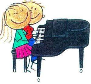 Kids playing piano clipart banner transparent stock Free Piano Lessons Cliparts, Download Free Clip Art, Free ... banner transparent stock