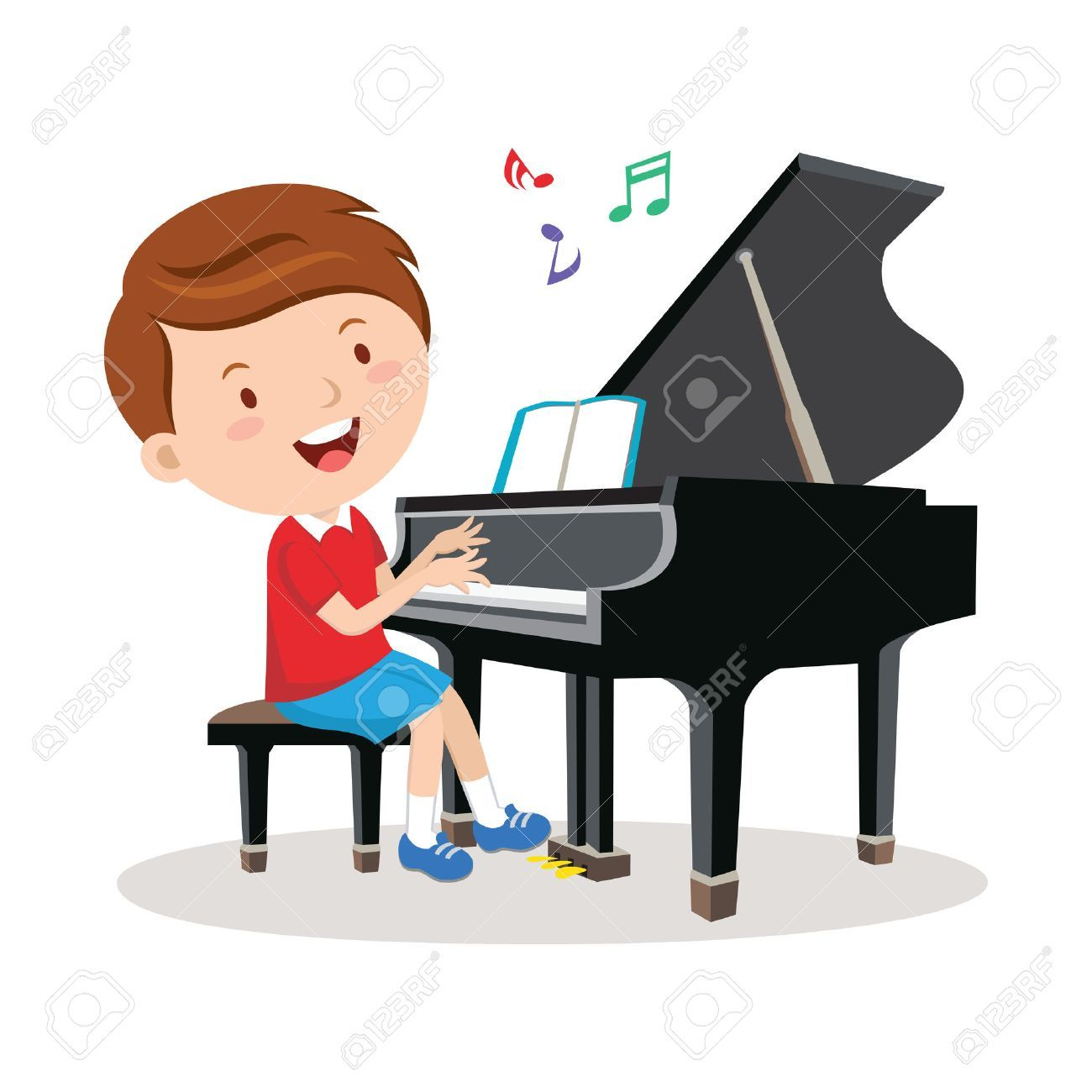 Kids playing piano clipart clip art black and white stock Child playing piano clipart 3 » Clipart Portal clip art black and white stock