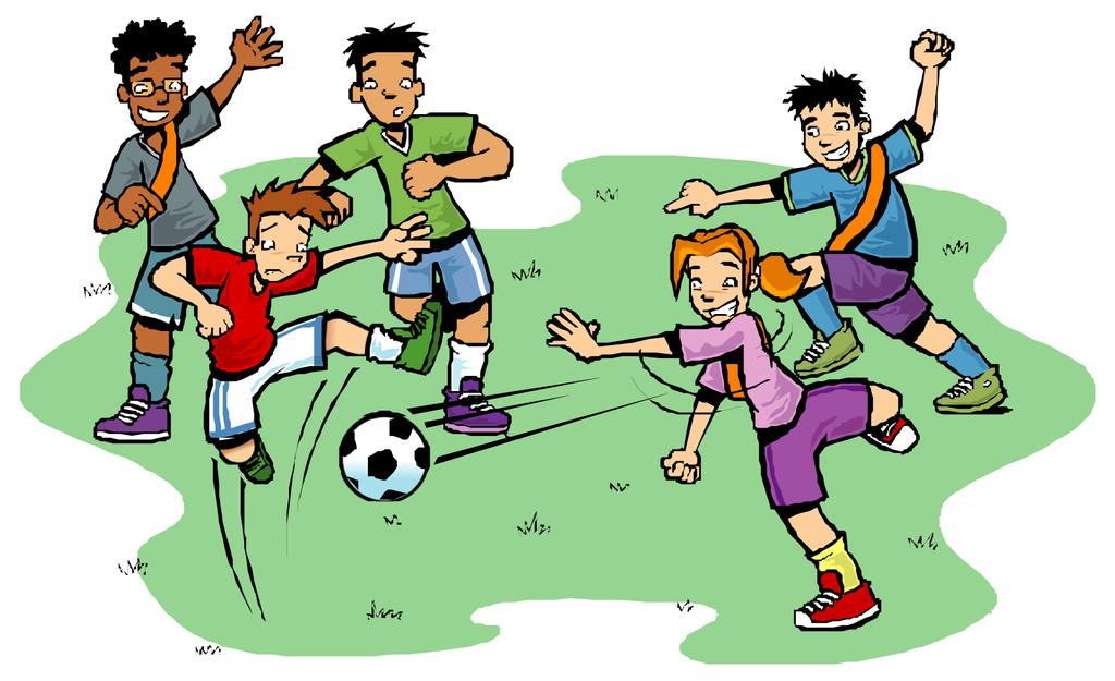 Kids playing soccer clipart svg transparent Kids Playing Sports Clipart Player Football Free Kid ... svg transparent