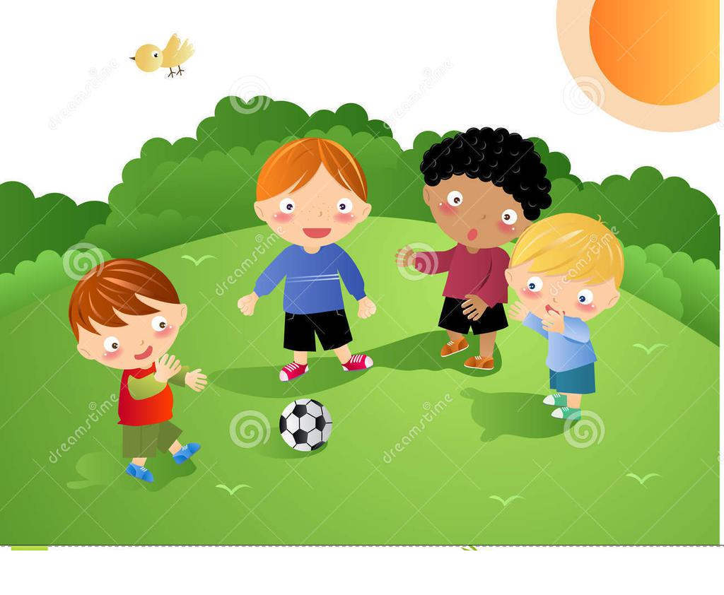 Kids playing soccer clipart clip black and white Kids Playing Football Clipart Kid - Clipart1001 - Free Cliparts clip black and white