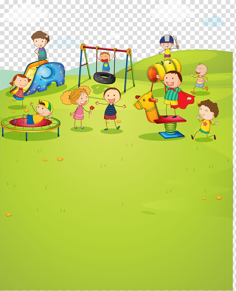 Kids playing tag at the park clipart clip library download Children playing on playground illustration, Park Child ... clip library download