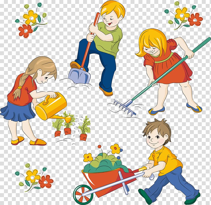 Kids playing tag at the park clipart vector black and white library Cartoon Child, kid beach transparent background PNG clipart ... vector black and white library