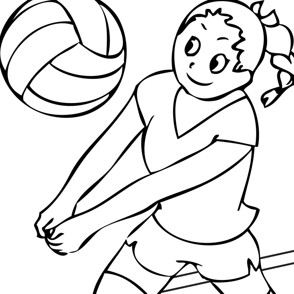 Kids playing volleyball clipart black and white picture royalty free download Volleyball Clipart Black And White | Free download best ... picture royalty free download