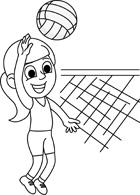 Kids playing volleyball clipart black and white clip art royalty free stock Playing Volleyball Clipart Black And White clip art royalty free stock