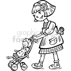 Kids playing with dolls clipart black and withe clip freeuse stock dolls clipart - Royalty-Free Images | Graphics Factory clip freeuse stock
