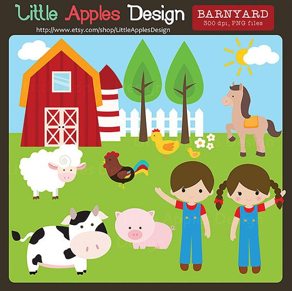 Kids playing with farm toys clipart png png library library Corral Clip Art / corral imágenes prediseñadas / por ... png library library