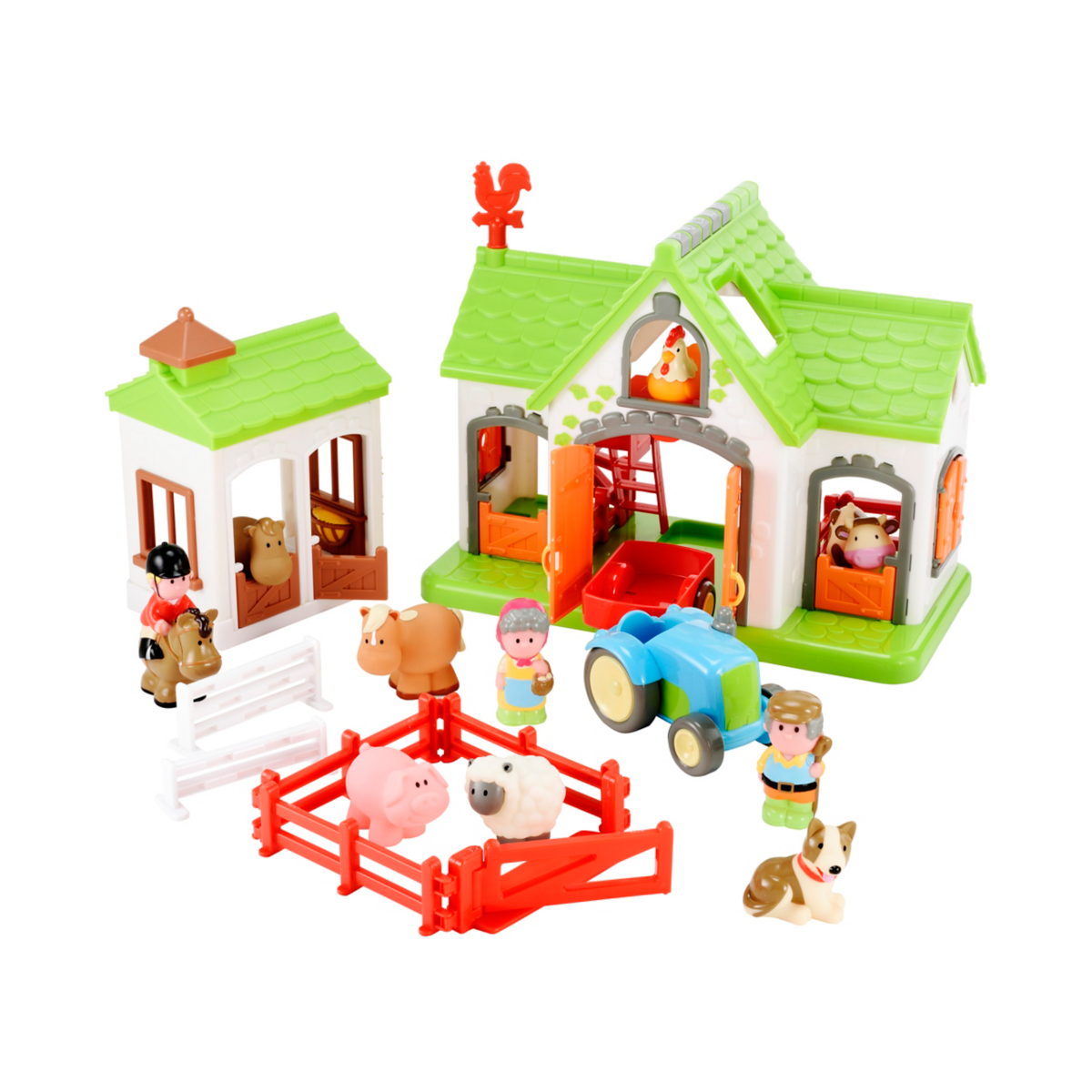 Kids playing with farm toys clipart png clip Happyland Farm clip