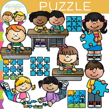 Kids puzzles clipart vector royalty free download Puzzle Clip Art vector royalty free download