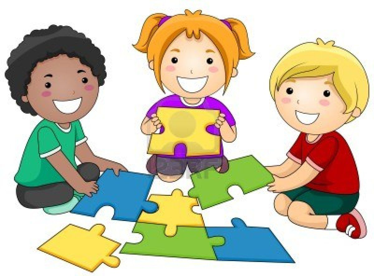 Kids puzzles clipart black and white stock Stock Photo | 7 Habits Happy Kids | Cartoon kids, Clip art ... black and white stock