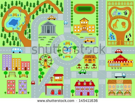 Kids road map clipart banner freeuse stock Street Map Template. 5 inkscape tutorials for web design ... banner freeuse stock