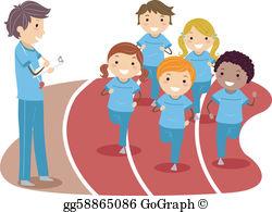 Kids running a race clipart jpg transparent library Kids Running Race Clip Art - Royalty Free - GoGraph jpg transparent library