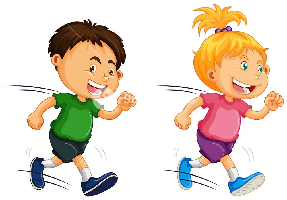 Kids running around clipart clip art stock Kids Running on White Background Royalty-Free Stock Image ... clip art stock