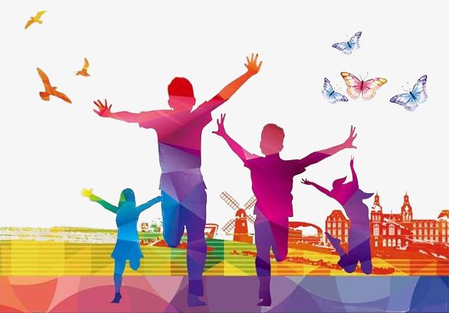 Kids running around clipart jpg stock Running Kids And Butterflies, Kids Clipa #59541 - PNG Images ... jpg stock