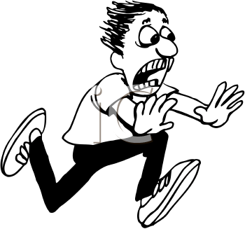 Kids running with fear black and white clipart png freeuse stock 4. Bear (Event) => innate response of \