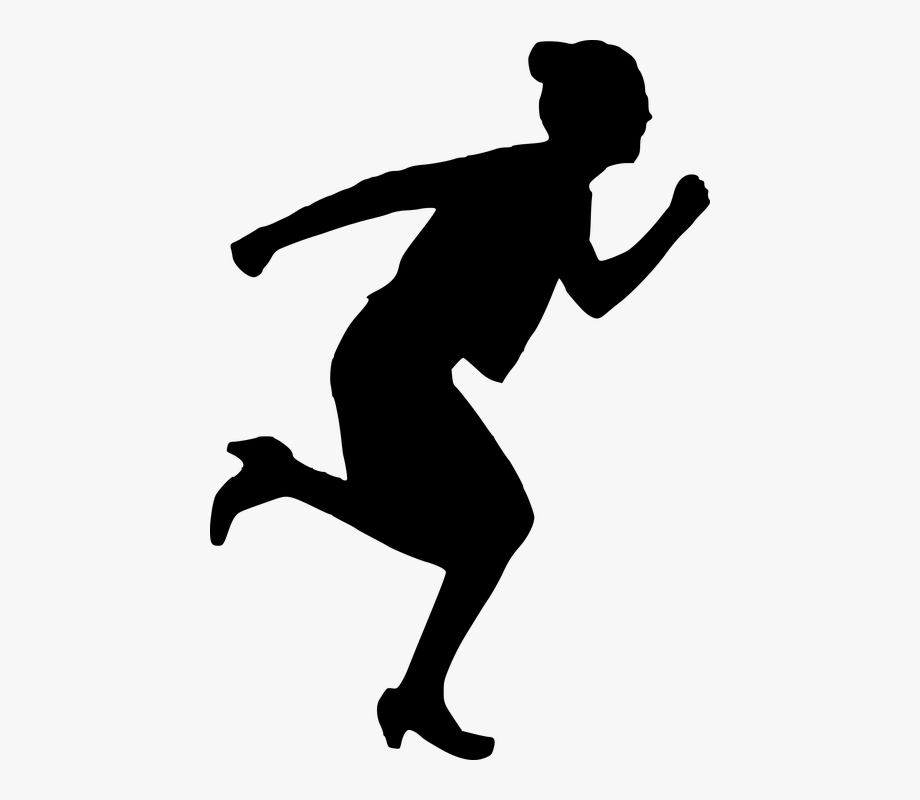 Kids running with fear black and white clipart black and white Running Thief Png - People Running In Fear Png #210865 ... black and white
