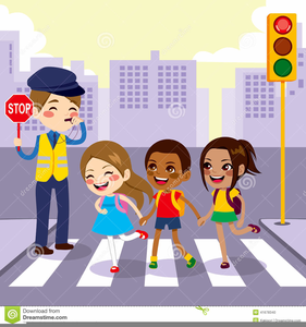 Kids safety clipart vector black and white library Pedestrian Safety Clipart | Free Images at Clker.com ... vector black and white library