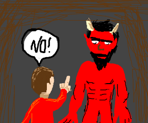 Kids saying no to the devil clipart clip art free library idolmaster - Drawception clip art free library