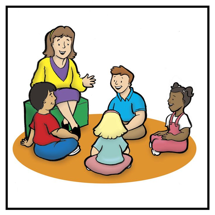 Kids sitting with teacher clipart banner free download Preschool Teacher Clipart | Free download best Preschool ... banner free download