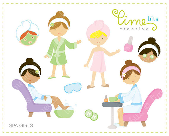 Kids spa clipart clipart library Spa Girls Clip Art | Spa ideas | Kids spa party, Birthday ... clipart library