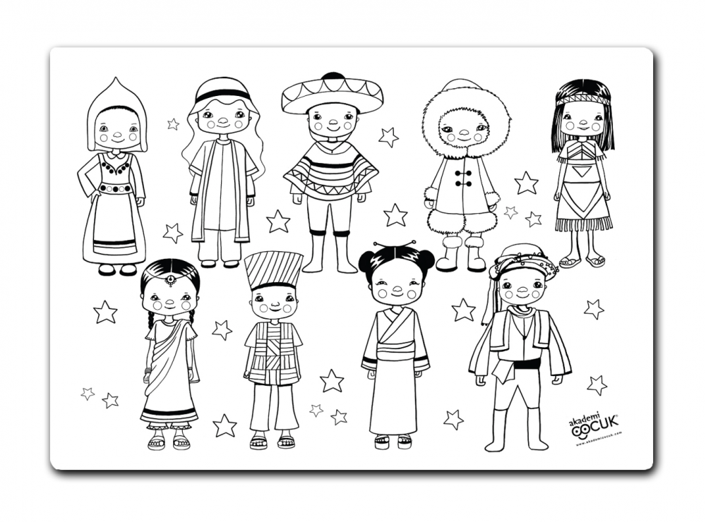 Kids standing on the world clipart black and whtie png library FUNNY MAT - CHILDREN OF THE WORLD png library