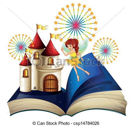 Kids storybook flying clipart