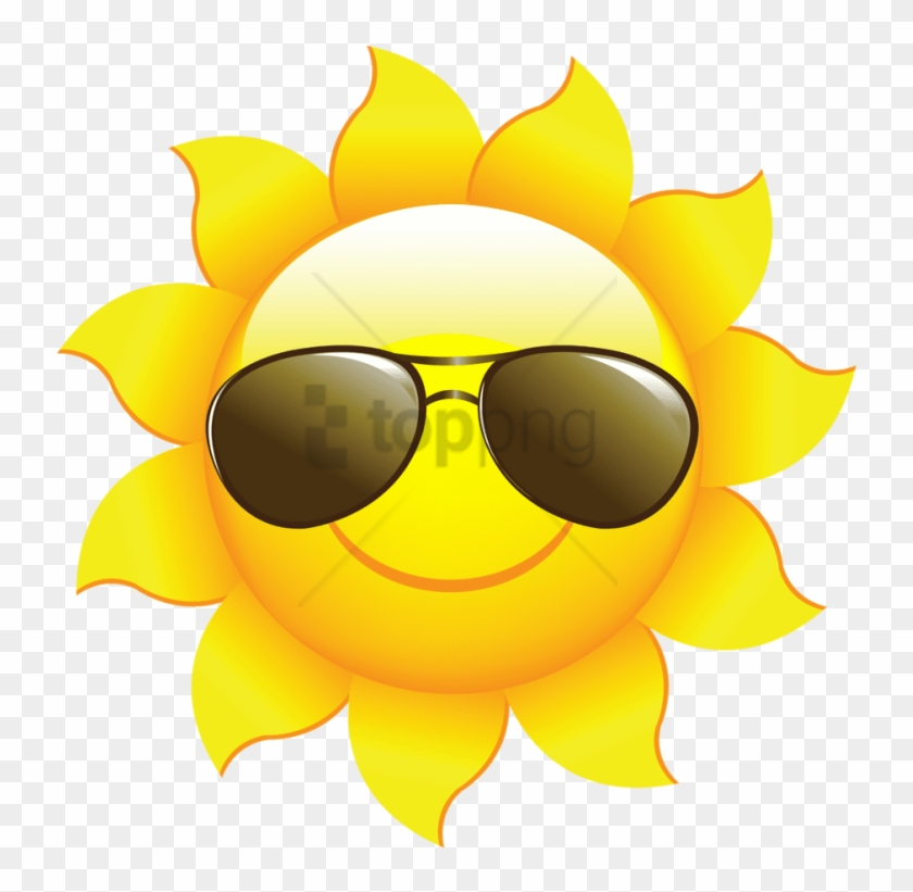 Kids sunglasses clipart clipart black and white stock Free Png Sun Clipart For Kids Png Png Image With Transparent ... clipart black and white stock