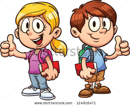 Kids thumbs up clipart svg free download Royalty Free Stock Photos and Images: School kids. Vector clip art ... svg free download