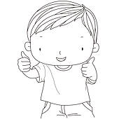 Kids thumbs up clipart jpg black and white library Clipart of kids showing thumb picture k11675773 - Search Clip Art ... jpg black and white library