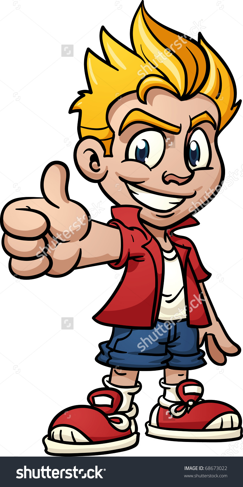 Kids thumbs up clipart jpg royalty free library cool cartoon kid making thumbs up hand gesture vector illustration ... jpg royalty free library