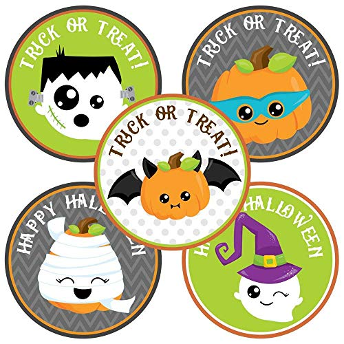 Kids trick or treating clipart svg library Happy Halloween Sticker Labels - Kids Trick or Treat Favor and Envelope  Seal Labels - Set of 50 svg library