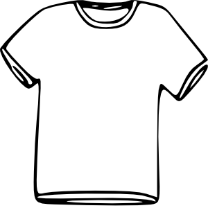 Kids tshirt clipart image black and white download T-shirt shirt template for kids clipart - Cliparting.com image black and white download