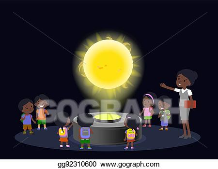 Kids using technology in future clipart png transparent stock Vector Art - Innovation education elementary school african ... png transparent stock