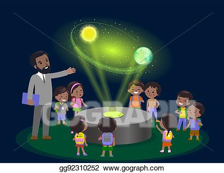 Kids using technology in future clipart jpg transparent library Vector Art - Innovation education elementary school learning ... jpg transparent library