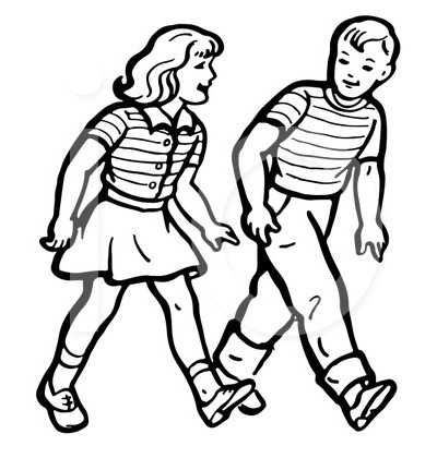 Kids walk the line clipart black and white png library library Children Walking Clipart Black And White png library library
