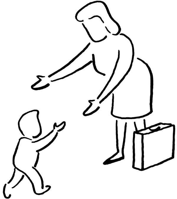 Walk to school clipart black and white svg black and white Baby Walking Drawing at GetDrawings.com | Free for personal use Baby ... svg black and white