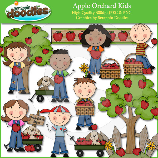 Kids with apples clipart clip art royalty free library Women Of An Apple Picking Clipart - Clipart Kid clip art royalty free library