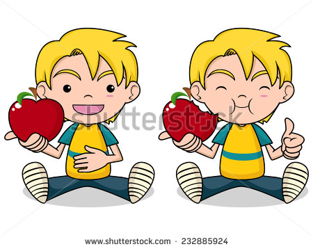 Kids with apples clipart black and white download Boy eating apple clipart - ClipartFox black and white download