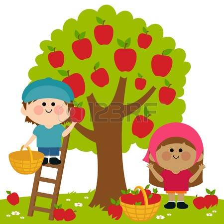 Kids with apples clipart banner freeuse library 233 Apple Picking Cliparts, Stock Vector And Royalty Free Apple ... banner freeuse library